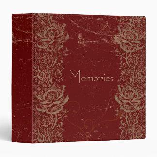 """Memorias de los rosas del vintage del mundo de carpeta 1 1/2"""""""