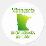 Memorias de Minnesota Pegatina Redonda