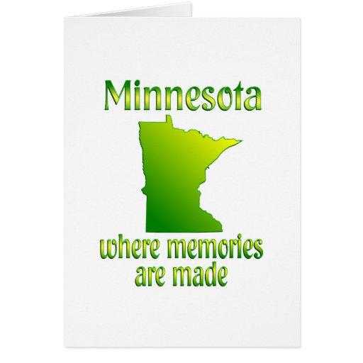 Memorias de Minnesota Tarjeta De Felicitación