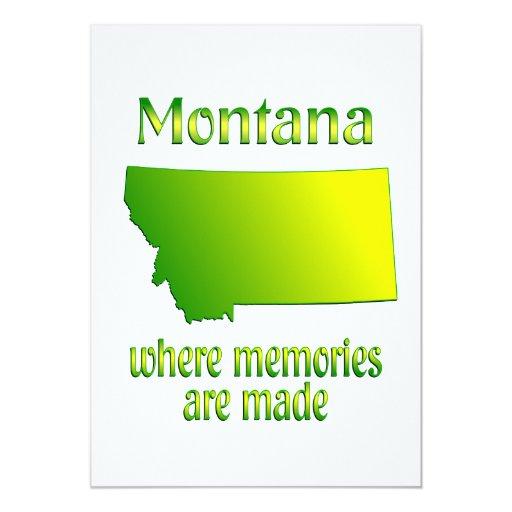 """Memorias de Montana Invitación 5"""" X 7"""""""