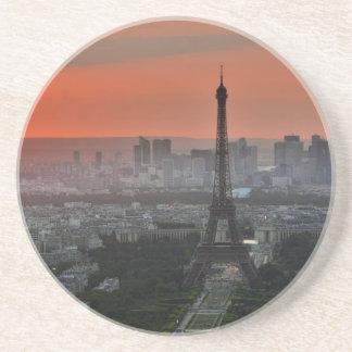 Memorias de París. Opinión de la torre Eiffel Posavasos Para Bebidas
