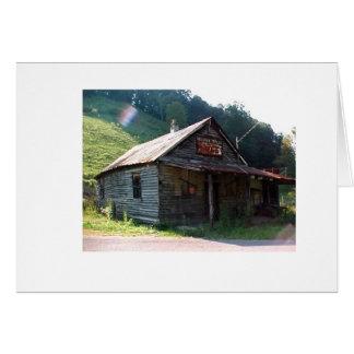 Memorias de una tienda rural vieja tarjeta de felicitación