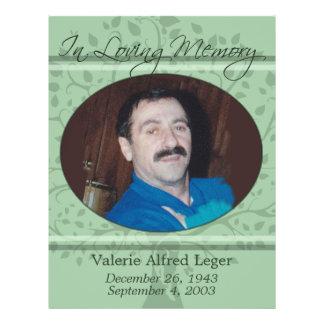 """Memorias de usted monumento/tarjeta de encargo de  folleto 8.5"""" x 11"""""""