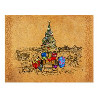 Memorias del árbol de navidad postales
