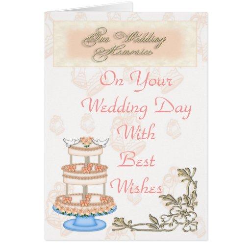 Memorias del boda tarjetas