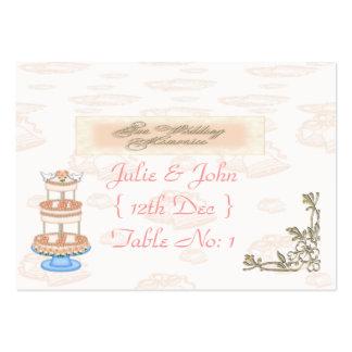 Memorias del boda tarjetas de visita grandes