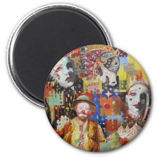 """""""Memorias del circo """" Imán Redondo 5 Cm"""