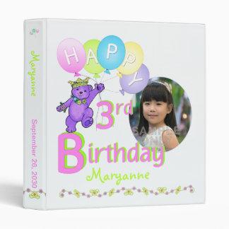 "Memorias del cumpleaños del oso de la púrpura real carpeta 1"""