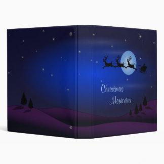 Memorias del navidad - carpeta de la noche de navi