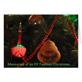 Memorias del navidad de la moda de Ol Tarjeta De Felicitación