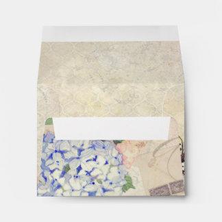 Memorias del verano - mariposas azules del sobres