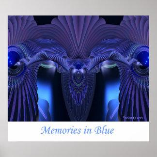 Memorias en azul poster