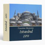 """Memorias Estambul 1,5"""" de las vacaciones carpeta"""