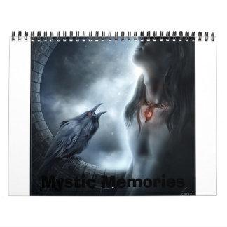 Memorias místicas calendario de pared