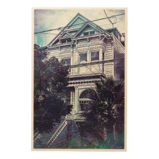 Memorias oscuras de un Victorian MissionDistrict. Impresión En Madera