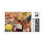 Memorias retras de la niñez del vintage de la sello