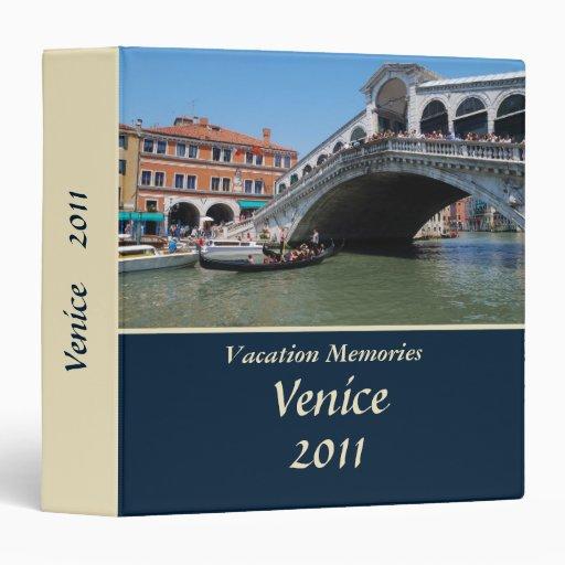 """Memorias Venecia 1,5"""" de las vacaciones carpeta"""