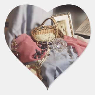 Memorias - viejas cosas especiales pegatinas corazon