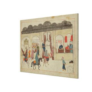 Memorie Turchesche' depicting market in Canvas Print