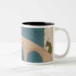 Memorie Turchesche' depicting the Galata Bridge Two-Tone Coffee Mug