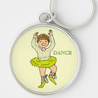 Memories 1st dance recital On your toes Silver-Colored Round Keychain
