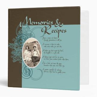 Memories and Recipes 3 Ring Binder