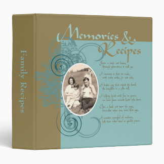 Memories and Recipes Binder