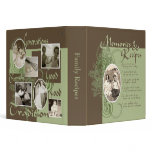 Memories and Recipes Green & Brown 3 Ring Binder