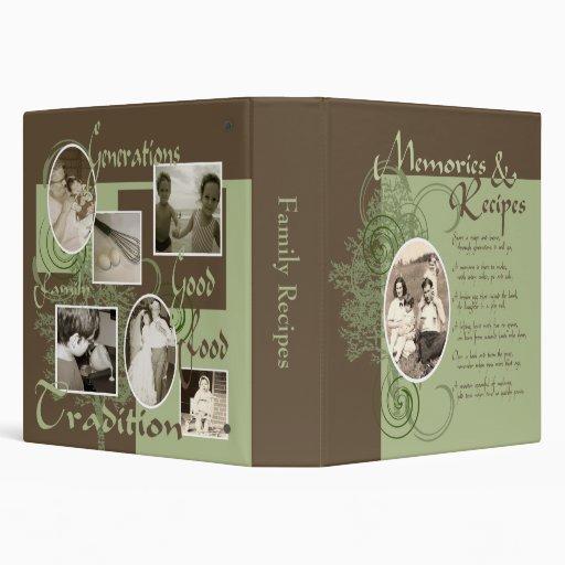 Memories and Recipes Green & Brown Vinyl Binder