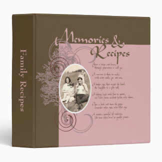 Memories and Recipes Pink and Brown Binder