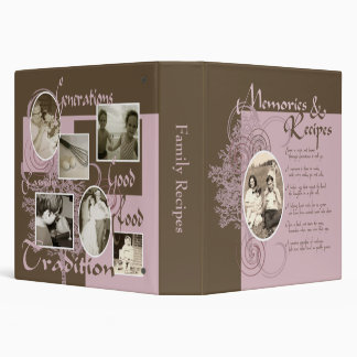 Memories and Recipes Pink & Brown Binder