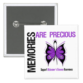Memories Are Precious Alzheimer's Disease 2 Inch Square Button