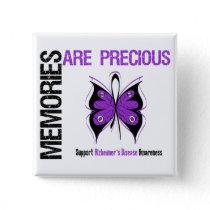 Memories Are Precious Alzheimer's Disease Button