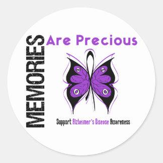 Memories Are Precious Alzheimer's Disease Classic Round Sticker