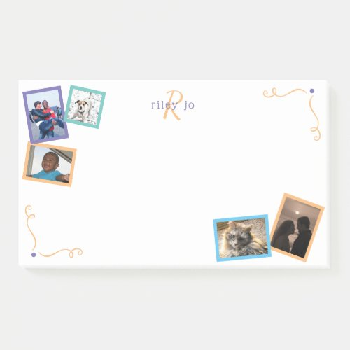 Memories Chic Jumbo Personalized 5 Photo Collage Post_it Notes