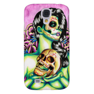 Memories Day of the Dead Sugar Skull Girl Samsung Galaxy S4 Cases