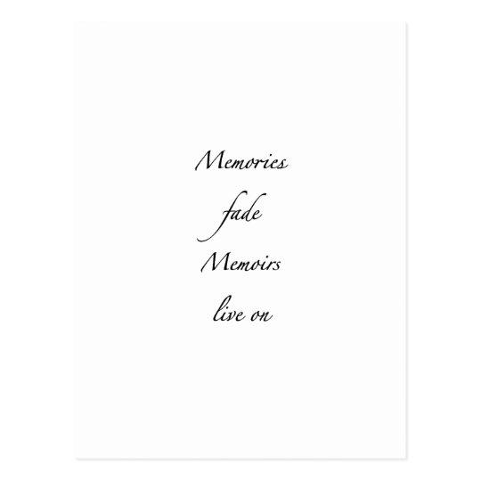 Memories fade - Black Postcard