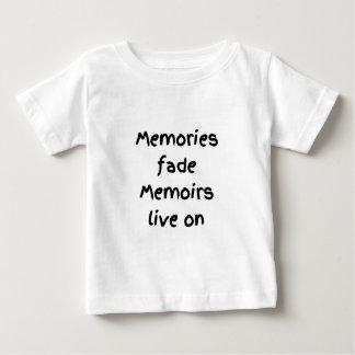 Memories fade Memoirs live on - Black print Baby T-Shirt