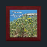 "Memories / heart - keepsake box<br><div class=""desc"">While driving through Antibes,  France,  these beautiful wild flowers caught my eyes. Memories are the currency of the heart - hope you enjoy!</div>"