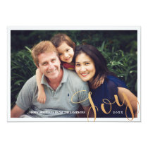 Memories   Holiday Photo Card   Faux Foil