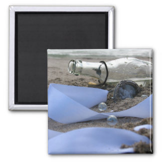 Memories in a Bottle 2 Inch Square Magnet