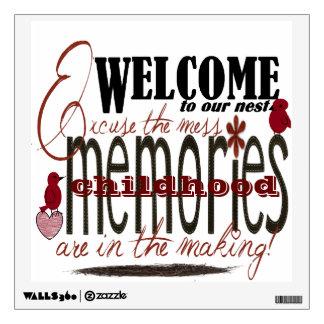 Memories in the making room decals