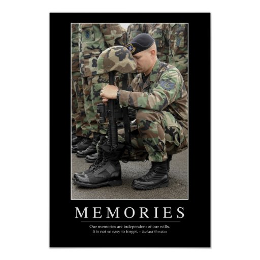 memories  inspirational quote 1 poster
