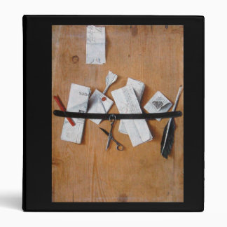 MEMORIES/ LETTER HOLDER IN WOOD black brown white 3 Ring Binder