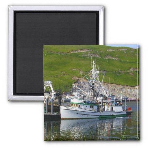 Memories, Longliner in Dutch Harbor, Alaska Refrigerator Magnets