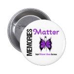 Memories Matter Alzheimer's Disease Pinback Button