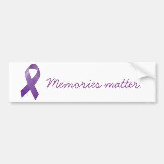 Memories Matter bumper sticker Car Bumper Sticker