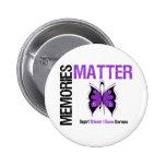 Memories Matters v2 Alzheimer's Disease Pinback Buttons