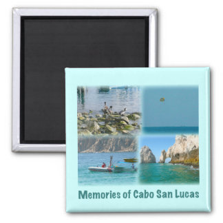 Memories of Cabo San Lucas 2 Inch Square Magnet