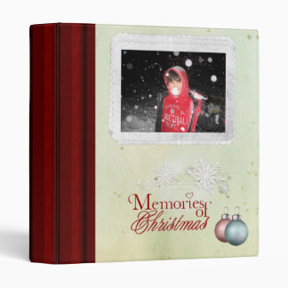 memories of christmas photo album or scrapbook binder